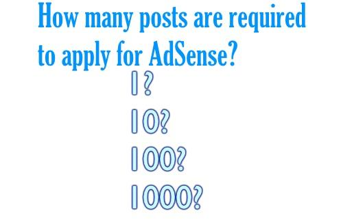 AdSense Post Requirement