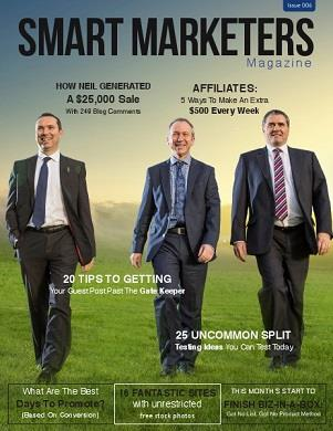 Smart Marketer Magazine cover page