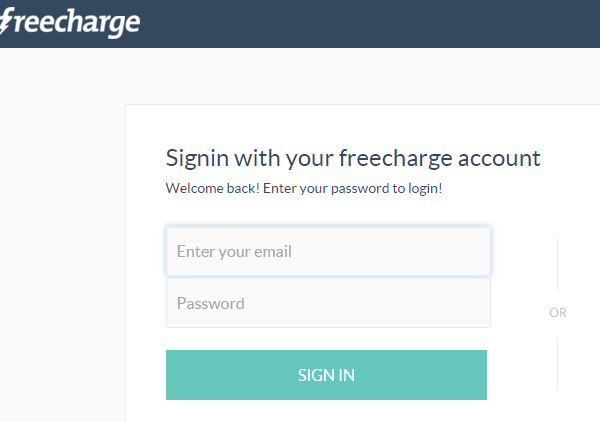 Freecharge Login