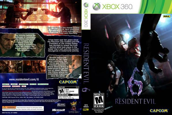 Resident Evil 6 for Xbox 360 box art
