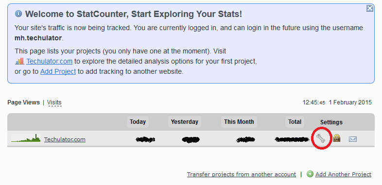 statcounter track the online visits without your own visits
