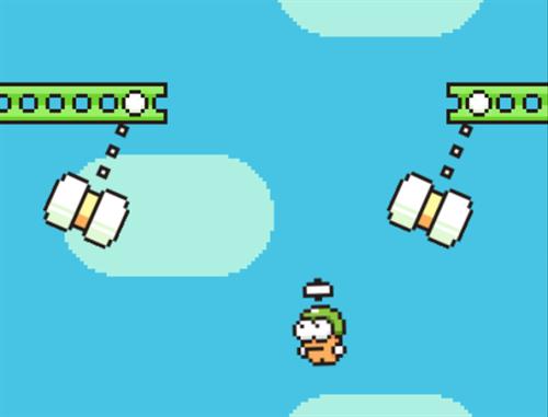 swing copter game for ios devices