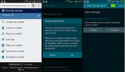Samsung Galaxy S5 setting user account