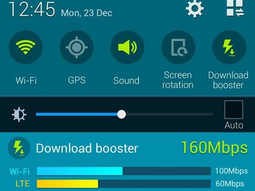 Samsung Galaxy S5 Download booster