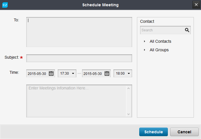 Schedule meeting EZTalks