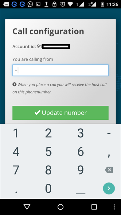 Change number GVCall