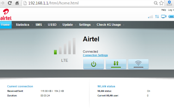 How to configure Airtel 4G hotspot Wi-Fi router