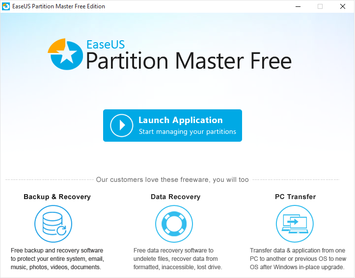 Partition Manager Free home