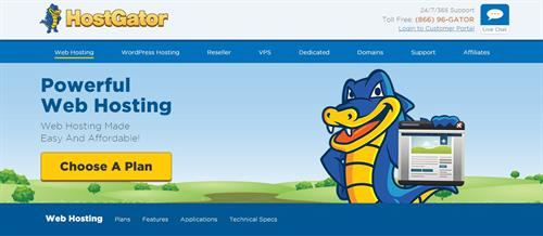 HostGator website screenshot