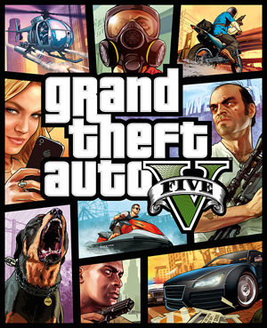 Grand Theft Auto 5 box cover art