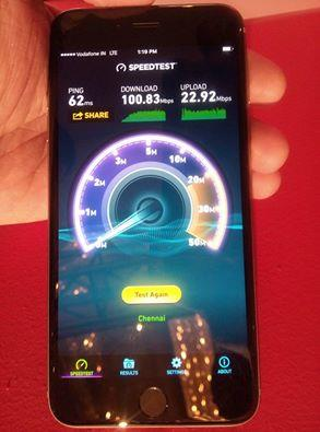 Vodafone 4G speed test