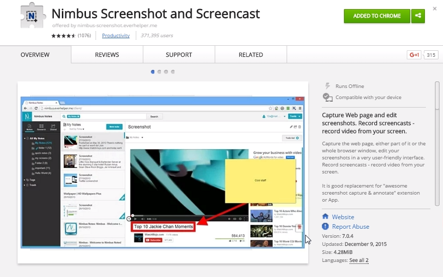 Screencast Chrome