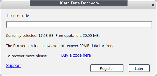 iCare Data Recover License Code