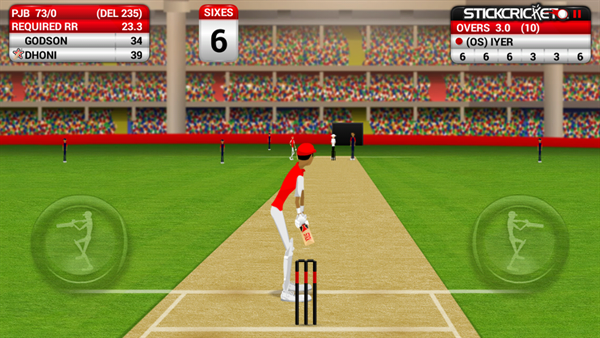 Stick Cricket gameplay
