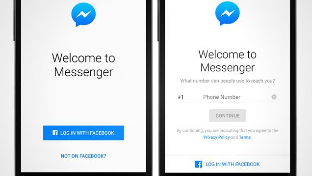 How to use Facebook Messenger without Facebook account?
