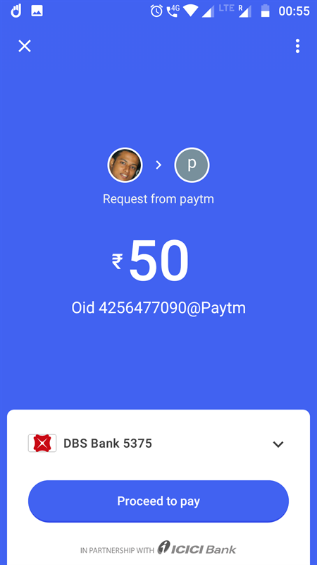Select bank for payment in Tez