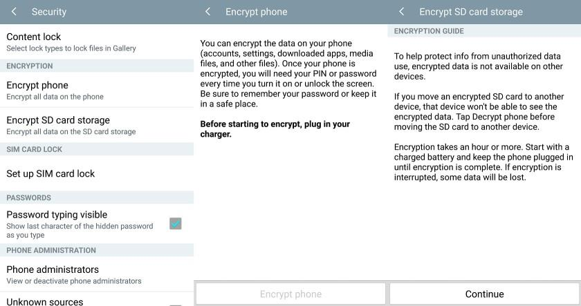 encrypt android