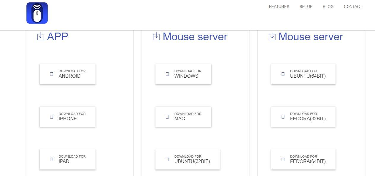 wifi mouse server