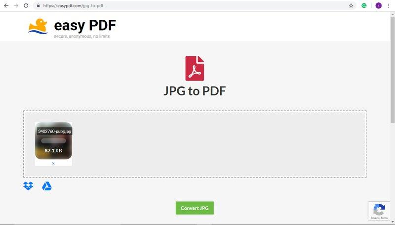 Load image for PDF convert
