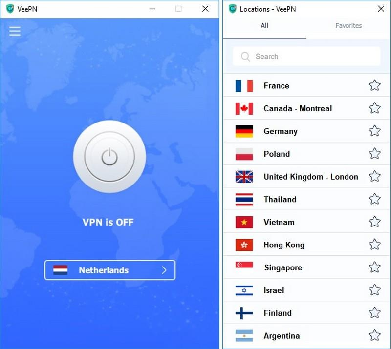 Select VPN country