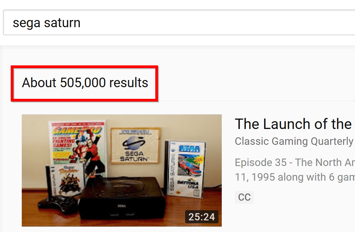 Competition for YouTube search