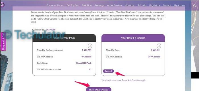 How to choose your TV pack on Videocon D2H?