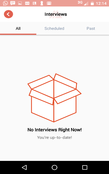 Interviews Screen
