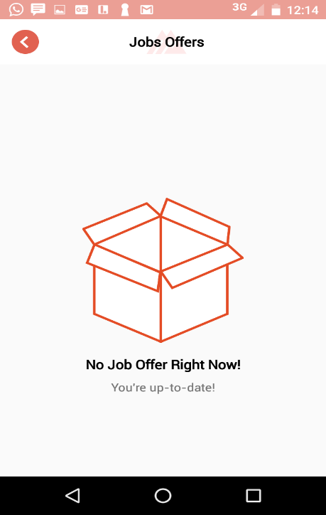 Job Offers Screen