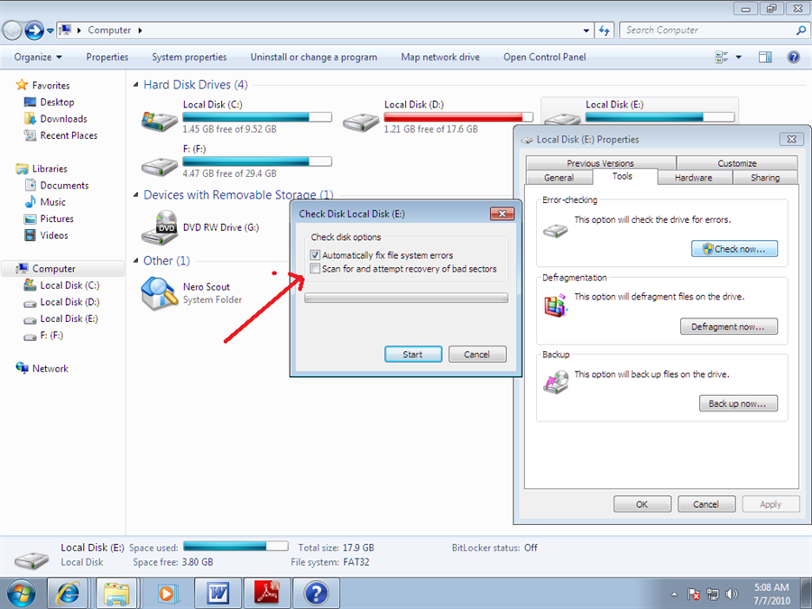 7 freeware to check and repair hard disk with bad sectors.