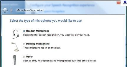 Microsoft Speech Recognition feature in Windows 8