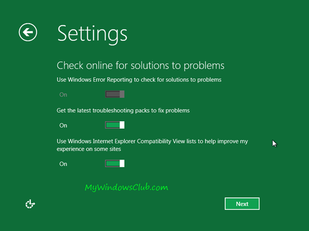 Online solution for Windows 8 problems