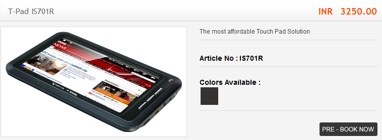 Bsnl Penta Tpad tablets online booking and pre-order in India