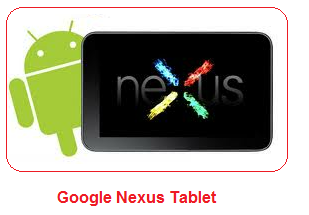 Google Nexus tablet and its specifications