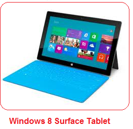 Windows 8 surface tablets and its specifications