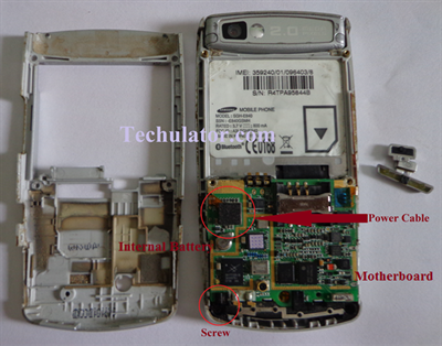 Disassembly of Samsung mobile
