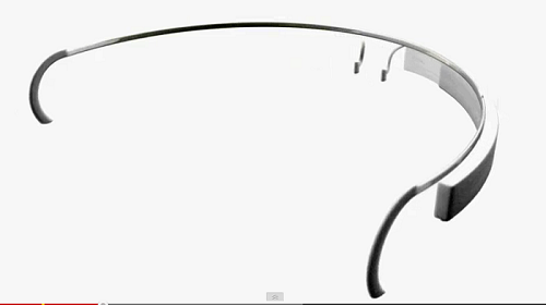 Google project glass on back