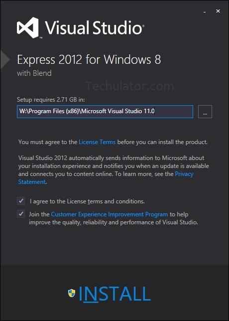 Visual Studio 2012 Express for Windows 8