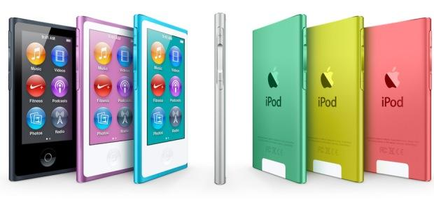 iPod nano with largest multi touch display