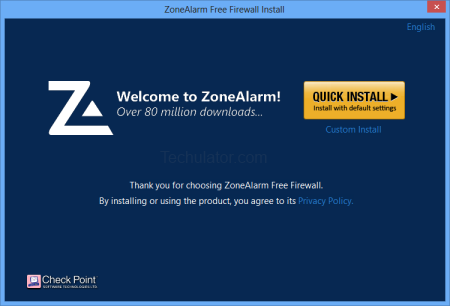 Install ZoneAlarm Firewall for Windows 8