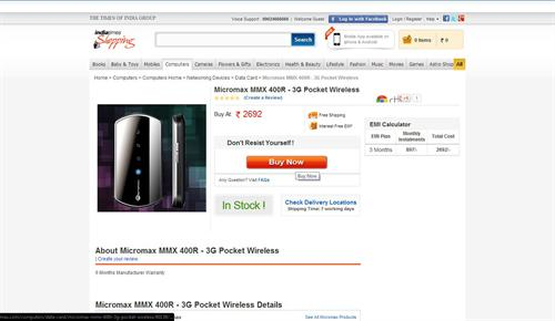buy Micromax MMX400r online