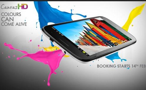 Micromax A116 canvas HD booking