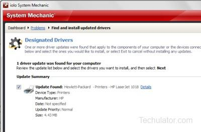 System Mechanic - Update Drivers