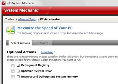 System Mechanic - PC Accelerator