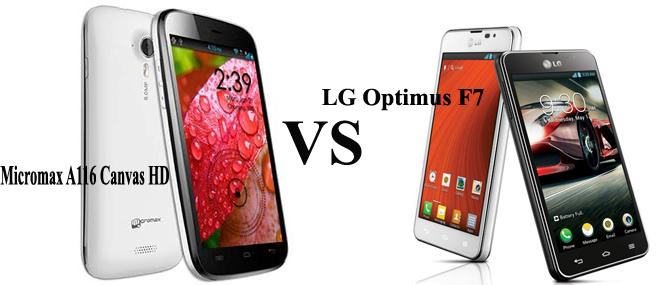 LG Optimus F7 VS Micromax A116 Canvas HD- price, specification, review and features