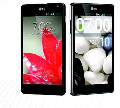 LG Optimus G Front view