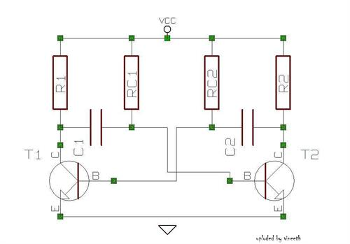 how to build a simple astable multivibrator with the help of a