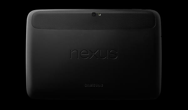 Rear side of Google Nexus 10 tablet