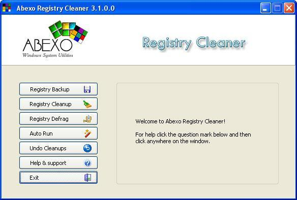 Abexo Free Registry Cleaner 1.1 Screen Shot