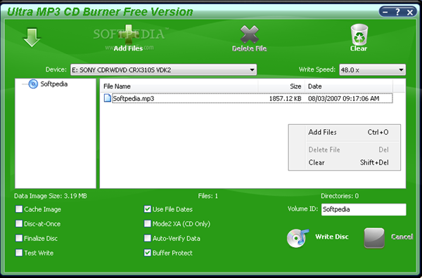 Ultra MP3 CD Burner 7.4.4.186