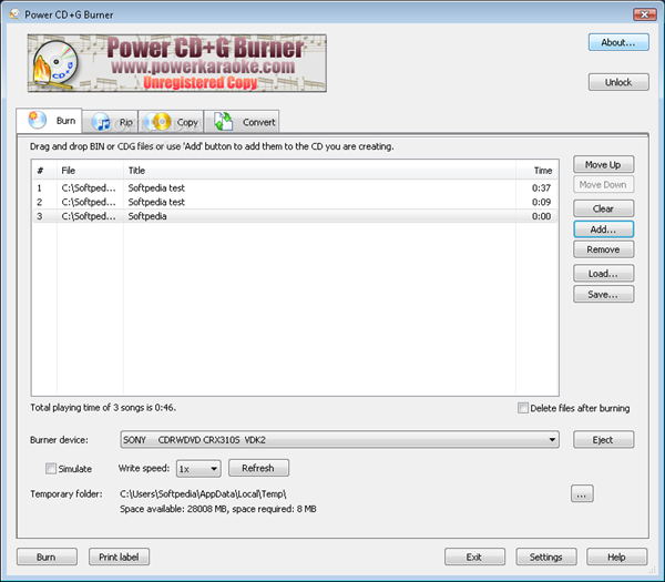Power CD+G Burner 1.7.9